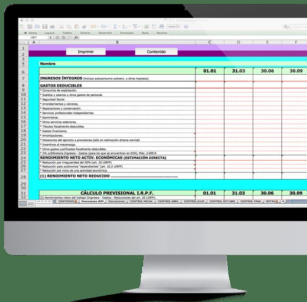 Herramienta previsión fiscal rendimientos actividad IRPF