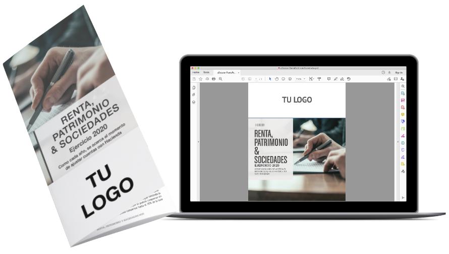 eDossier pdf y tríptico de la campaña de Renta, Patrimonio y Sociedades 2020